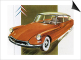 1950's Citroen ID 19 Car Art
