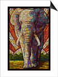 Elephant - Paper Mosaic Prints by  Lantern Press