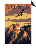Big Sur, California - Condors Affiches par  Lantern Press