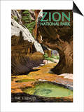 Zion National Park - The Subway Prints by  Lantern Press
