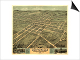Huntsville, Alabama - Panoramic Map Prints by  Lantern Press