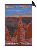 Thor's Hammer, Bryce Canyon, Utah Print by  Lantern Press