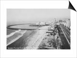 Long Beach, California Rainbow Pier and Ocean Blvd. Photograph - Long Beach, CA Prints by  Lantern Press