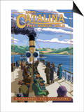 Catalina Island, California - Steamer Coming to Avalon Posters af Lantern Press