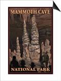 Mammoth Cave National Park, Kentucky, Onxy Pillars Prints by  Lantern Press