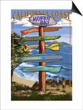 Morro Bay, CA - Destination Signs Poster