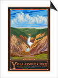 Artist Point, Yellowstone National Park, Wyoming Láminas por  Lantern Press