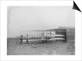 Wilbur & Orville Wright in 2nd powered machine Photograph - Dayton, OH Posters by  Lantern Press