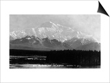 Alaska - View of Mt McKinley Art by  Lantern Press