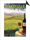 Woodinville, Washington Wine Country Láminas por  Lantern Press