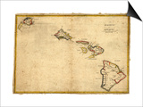 Hawaii - Panoramic State Map Posters