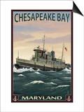Chesapeake Bay Tugboat Scene Prints by  Lantern Press