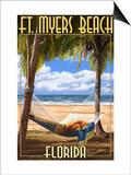 Ft. Myers Beach, Florida - Hammock Prints by  Lantern Press
