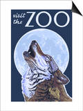 Visit the Zoo, Wolf Howling Prints