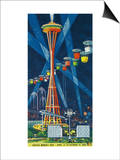 Space Needle Worlds Fair Poster - Seattle, WA Prints by  Lantern Press