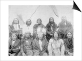 Lakota Indian Chiefs who Met General Miles to End Indian War Photograph - Pine Ridge, SD Posters