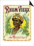 Rhum Vieux Martinique Brand Rum Label Print by  Lantern Press