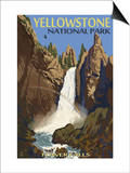 Tower Falls - Yellowstone National Park Pósters por  Lantern Press