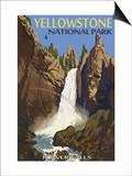 Tower Falls - Yellowstone National Park Pósters por  Lantern Press