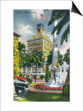 Tampa, Florida - City Hall Exterior View Prints by  Lantern Press