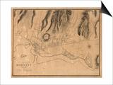 Hawaii - Panoramic Map of Honolulu Prints by  Lantern Press