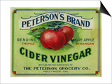 Hollywood, California - Peterson's Cider Vinegar Label Prints