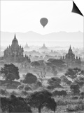 Bagan at Sunrise, Mandalay, Burma (Myanmar) Prints by Nadia Isakova