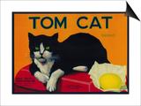 Tom Cat Lemon Label - Orosi, CA Print by  Lantern Press