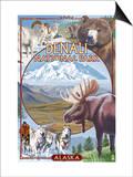Denali National Park, Alaska - Park Views Posters by  Lantern Press