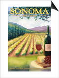 Sonoma County, California Wine Country Prints by  Lantern Press
