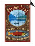 Wallowa Lake, Oregon Poster by  Lantern Press