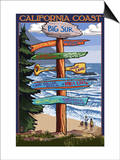 Big Sur, California - Destination Sign Posters by  Lantern Press
