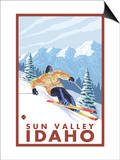 Downhhill Snow Skier, Sun Valley, Idaho Prints by  Lantern Press
