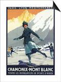 Chamonix Mont-Blanc, France - Ice Skating Posters by  Lantern Press