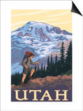 Utah - Mountain Hiker Posters by  Lantern Press