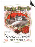 Domaine De Clairville Wine Label - Europe Posters by  Lantern Press