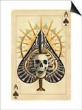 Ace of Spades - Playing Card Prints by  Lantern Press