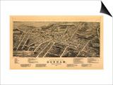 Durham, North Carolina - Panoramic Map Prints by  Lantern Press