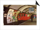 1960's Tube Train in Piccadilly Circus Station Print