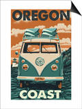 Oregon Coast - VW Van Posters by  Lantern Press