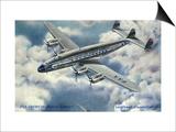 View of Pan American World Airways Lockheed Constellation Plane Art by  Lantern Press