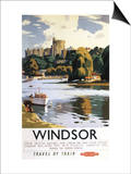 Windsor, England - British Railways Windsor Castle Thames Poster Prints