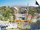 Park Guell, Barcelona, Catalonia, Spain, Europe Art by Marco Simoni