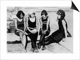 Four Women at the Beach Photograph - Atlantic City, NJ Prints by  Lantern Press