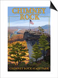Chimney Rock State Park, NC - View from Top Posters by  Lantern Press