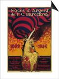 Barcelona, Spain - Soccer Promo Poster Art