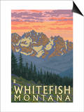 Whitefish, Montana - Spring Flowers Prints by  Lantern Press