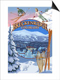 Breckenridge, Colorado Montage Prints by  Lantern Press