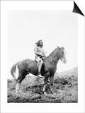 Nez Perce Indian on Horseback Edward Curtis Photograph Prints by  Lantern Press