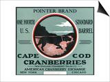 Cape Cod, Massachusetts - Pointer Brand Cranberry Label Print by  Lantern Press